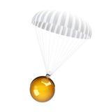 Parachute christmas glass ball Stock Photography