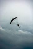 Parachute in the Clouds Royalty Free Stock Images