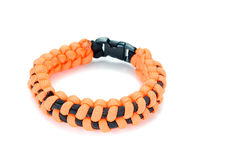 Parachute cord bracelet Stock Images