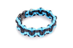 Parachute cord survival bracelet Royalty Free Stock Photo