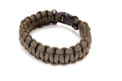 Parachute cord survival bracelet Royalty Free Stock Photography