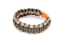 Parachute cord survival bracelet Stock Image