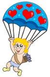 Parachute cupid Royalty Free Stock Photo