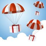 parachute 3d et présent colorés Photographie stock libre de droits