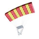 parachute 3d framför image Royaltyfria Bilder