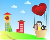 Parachute de cerf image stock