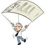 Parachute de résumé illustration libre de droits