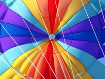 Parachute detail. A detail of a colorful parachute Stock Photography
