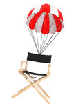 Parachute with Director's Chair Royalty Free Stock Images