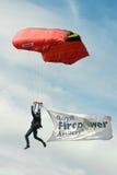 Parachute display Stock Images