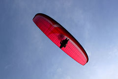 Parachute from down. In Huesca, Spain Stock Photos