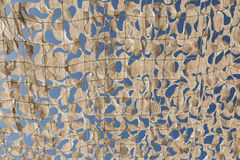 Parachute fabric awning. Shade awning made from parachute fabric, Marrakech, Morocco royalty free stock photography