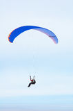Parachute fly. In ski Stock Photo