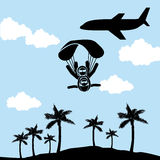 Parachute fly Stock Photo