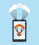 Parachute fly Royalty Free Stock Photos