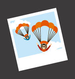 Parachute fly Stock Photos