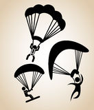 Parachute fly Royalty Free Stock Image