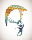 Parachute fly Royalty Free Stock Images