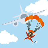 Parachute fly Stock Images