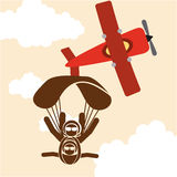 Parachute fly Stock Photography