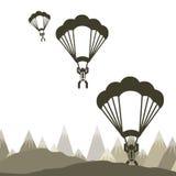 Parachute fly Stock Image