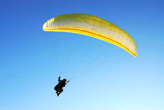 Parachute flying Royalty Free Stock Photo