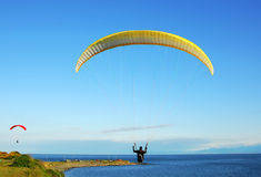 Parachute flying Stock Image