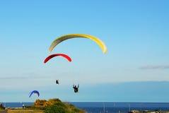 Parachute flying Stock Image