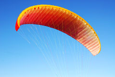 Parachute flying Royalty Free Stock Image