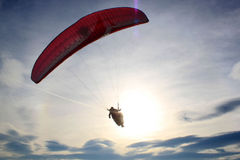 Parachute flying towards the sky Royalty Free Stock Image