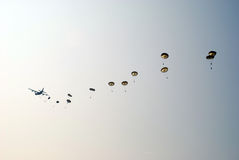 Parachute Ginkelse Heide, Ede Stock Photo