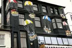 Parachute graphics. Royalty Free Stock Images