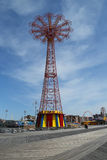 Parachute jump tower - famous Coney Island landmark in Brooklyn Stock Photo