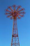 Parachute jump tower - famous Coney Island landmark in Brooklyn royalty free stock photos