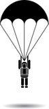 Parachute jump vector Royalty Free Stock Images