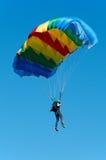 Parachute jumper stock photo