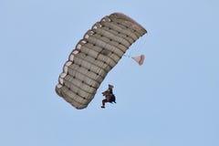 Parachute jumper at BIAS 2015 Royalty Free Stock Images