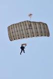 Parachute jumper at BIAS 2015 Stock Photos