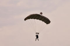 Parachute jumper at BIAS 2015 Stock Photo