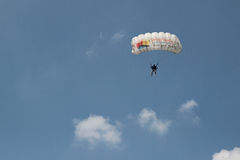Parachute jumper Royalty Free Stock Image