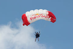 Parachute jumper Stock Photography