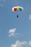 Parachute jumper Royalty Free Stock Photo