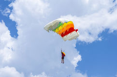 Parachute jumper in flight Stock Image