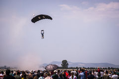 Parachute jumper. Stock Image