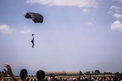 Parachute jumper. Royalty Free Stock Photos