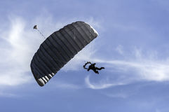 Parachute jumper. Royalty Free Stock Images