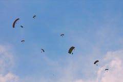 Parachute jumpers at BIAS 2015 Stock Photo
