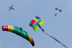 Free Parachute Jumping From Airplane Royalty Free Stock Photography - 19485967