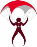 parachute logo Royalty Free Stock Photos