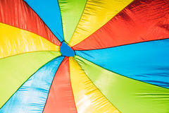 A parachute in many colors. A parachute in many different bright colors Stock Photos